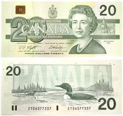 1991 -  20 DOLLARS 1991, KNIGHT/DODGE (UNCG)