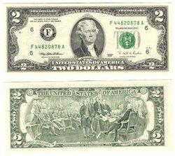 1995 -  2 DOLLARS DES ÉTATS-UNIS