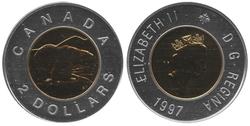 2 DOLLARS -  2 DOLLARS 1997 - OURS BRILLANT - SPÉCIMEN (SP) -  PIÈCES DU CANADA 1997