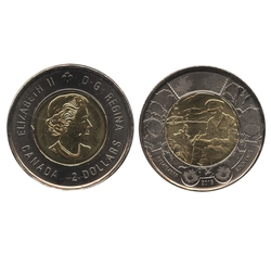 2 DOLLARS -  2 DOLLARS 2015 - AU CHAMP D'HONNEUR - BRILLANT INCIRCULE (BU) -  PIÈCES DU CANADA 2015