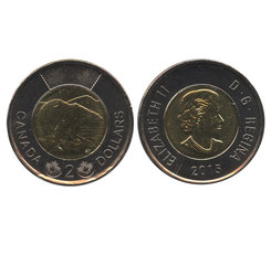 2 DOLLARS -  2 DOLLARS 2015 - BRILLANT INCIRCULE (BU) -  PIÈCES DU CANADA 2015