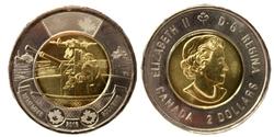 2 DOLLARS -  2 DOLLARS 2016 - BATAILLE DE L'ATLANTIQUE - BRILLANT INCIRCULE (BU) -  PIÈCES DU CANADA 2016