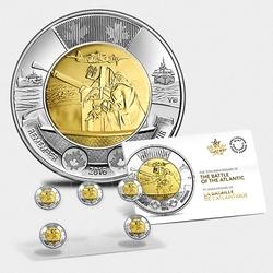 2 DOLLARS -  2 DOLLARS 2016 - BATAILLE DE L'ATLANTIQUE - ENSEMBLE DE CINQ PIÈCES -  PIÈCES DU CANADA 2016