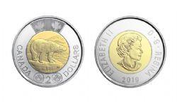 2 DOLLARS -  2 DOLLARS 2019 - BRILLANT INCIRCULE (BU) -  PIÈCES DU CANADA 2019