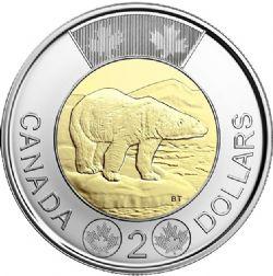 2 DOLLARS -  2 DOLLARS CLASSIQUE 2021 - BRILLANT INCIRCULE (BU) -  PIÈCES DU CANADA 2021