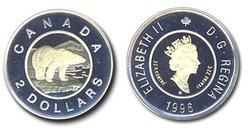2 DOLLARS -  L'OURS POLAIRE -  PIÈCES DU CANADA 1996
