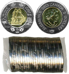 2 DOLLARS -  ROULEAU ORIGINAL DE 2 DOLLARS 2012