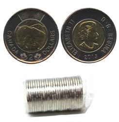 2 DOLLARS -  ROULEAU ORIGINAL DE 2 DOLLARS 2015 -  PIÈCES DU CANADA 2015