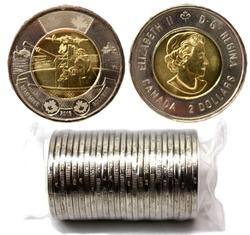 2 DOLLARS -  ROULEAU ORIGINAL DE 2 DOLLARS 2016 - BATAILLE DE L'ATLANTIQUE -  PIÈCES DU CANADA 2016