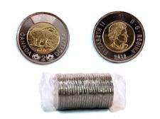 2 DOLLARS -  ROULEAU ORIGINAL DE 2 DOLLARS CLASSIQUES 2018 -  PIÈCES DU CANADA 2018