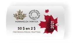 2 DOLLARS -  ROULEAU ORIGINAL DE 2 DOLLARS CLASSIQUES 2021 (EMBALLAGE SPÉCIAL) -  PIÈCES DU CANADA 2021