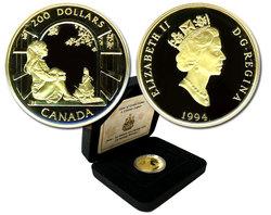 200 DOLLARS -  ANNE DE LA MAISON AUX PIGNONS VERTS -  PIÈCES DU CANADA 1994