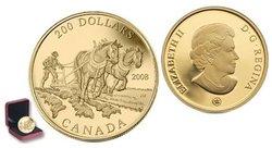 200 DOLLARS -  COMMERCE DES PRODUITS AGRICOLES -  PIÈCES DU CANADA 2008