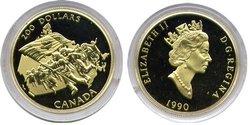 200 DOLLARS -  JUBILE DU DRAPEAU CANADIEN -  PIÈCES DU CANADA 1990