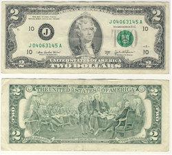 2003 -  2 DOLLARS DES ETATS-UNIS