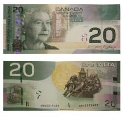 2004 -  20 DOLLARS 2004, JENKINS/CARNEY (UNC)