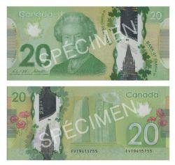 2012 -  20 DOLLARS 2012 EN POLYMÈRE, WILKINS/POLOZ (GUNC)