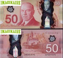 2012 -  50 DOLLARS 2012 EN POLYMÈRE, WILKINS/POLOZ (GUNC)