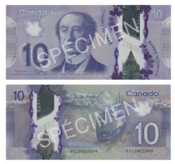 2013 -  10 DOLLARS 2013 EN POLYMÈRE, MACKLEM/CARNEY (CUNC)