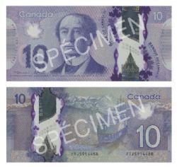 2013 -  10 DOLLARS 2013 EN POLYMÈRE, MACKLEM/POLOZ (GUNC)