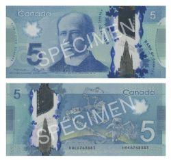 2013 -  5 DOLLARS 2013 EN POLYMÈRE, MACKLEM/POLOZ (UNC)