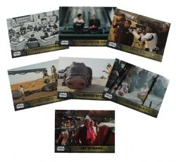 2015 STAR WARS -  TOPPS - FORCE AWAKENS BEHIND THE SCENES SET (7 CARTES)