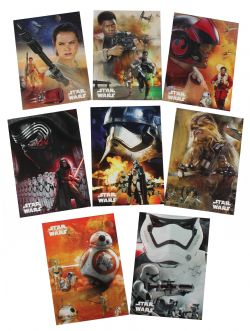 2015 STAR WARS -  TOPPS - FORCE AWAKENS CHARACTER MONTAGES (8 CARTES)