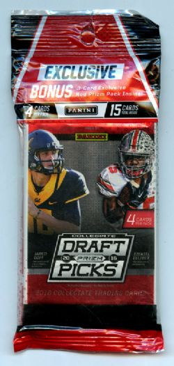 2016 FOOTBALL -  PANINI PRIZM DRAFT PICKS FOOTBALL CELLO MULTI PACK