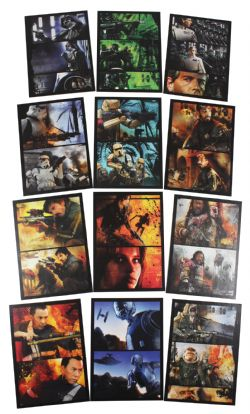 2016 STAR WARS -  TOPPS - ROGUE ONE: MILLION BRIEFING COMIC STRIP SET (12 CARTES)