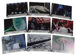 2016 STAR WARS -  TOPPS - ROGUE ONE: MILLION BRIEFING THE DEATH STAR SET (9 CARTES)