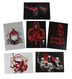 2017 STAR WARS -  TOPPS - JOURNEY TO THE LAST JEDI DARKNESS RISES SET (6 CARTES)