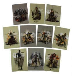 2017 STAR WARS -  TOPPS - ROGUE ONE SERIES 2 PRIME FORCES SET (10 CARTES)
