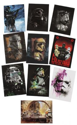 2017 STAR WARS -  TOPPS - ROGUE ONE SERIES 2 TROOPERS SET (10 CARTES)