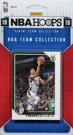 2018-19 BASKETBALL -  ENSEMBLE PANINI NBA HOOPS DES BUCKS DE MILWAUKEE (9 CARTES)