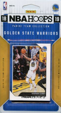 2018-19 BASKETBALL -  ENSEMBLE PANINI NBA HOOPS DES WARRIORS DU GOLDEN STATE (9 CARTES)
