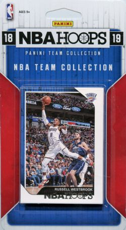 2018-19 BASKETBALL -  ENSEMBLE PANINI NBA HOOPS DU THUNDER DE OKLAHOMA CITY (9 CARTES)