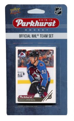 2018-19 HOCKEY -  ENSEMBLE PARKHURST DE L'AVALANCHE DU COLORADO (10 CARTES)