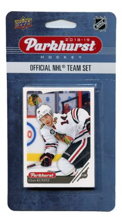 2018-19 HOCKEY -  ENSEMBLE PARKHURST DES BLACKHAWKS DE CHICAGO (10 CARTES)