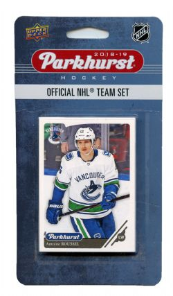 2018-19 HOCKEY -  ENSEMBLE PARKHURST DES CANUCKS DE VANCOUVER (10 CARTES)