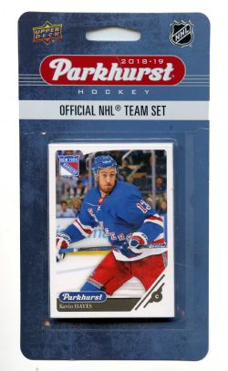 2018-19 HOCKEY -  ENSEMBLE PARKHURST DES RANGERS DE NEW YORK (10 CARTES)