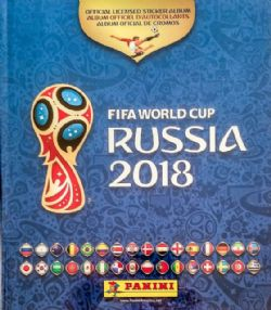 2018 SOCCER -  ALBUM D'AUTOCOLLANTS PANINI (COUVERTURE RIGIDE) -  COUPE DU MONDE DE LA FIFA, RUSSIE 2018