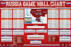 2018 SOCCER -  COUPE DU MONDE 2018 RUSSIE GAME WALL CHART