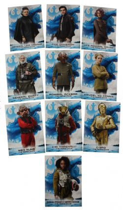 2018 STAR WARS -  TOPPS - THE LAST JEDI SERIES 2  LEADERS OF THE RESISTANCE SET (10 CARTES)