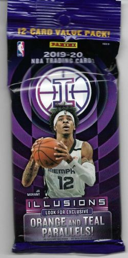 2019-20 BASKETBALL -  PANINI ILLUSIONS BASKETBALL JUMBO FAT 12 CARD PACK