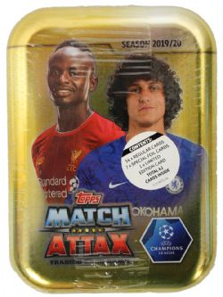 2019-20 SOCCER -  TOPPS MATCH ATTAX UEFA MINI TIN  (B42)
