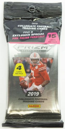 2019 FOOTBALL -  PANINI PRIZM DRAFT PICKS FOOTBALL CELLO MULTI PACK