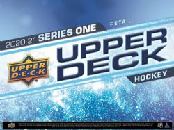 2020-21 HOCKEY -  UPPER DECK SERIES 1 CARTABLE DÉBUTANT (3 PAQUETS + 1 CARTE)