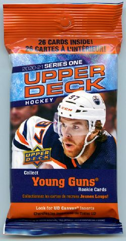 2020-21 HOCKEY -  UPPER DECK SERIES 1 FAT PACK (P26/B18/C6)