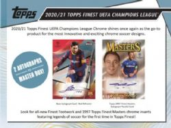 2020-21 SOCCER -  TOPPS FINEST UEFA CHAMPIONS LEAGUE MASTER BOX