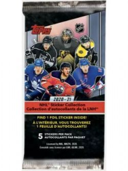2020-21 -  TOPPS COLLECTION D'AUTOCOLLANTS (P5/B50) -  HOCKEY
